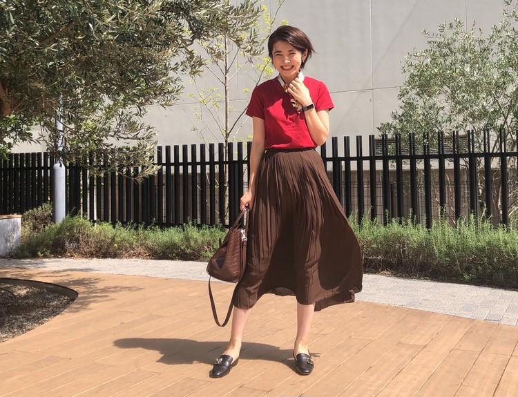 【ユニクロ】定番!プリーツスカートがオールシーズン使える。_3