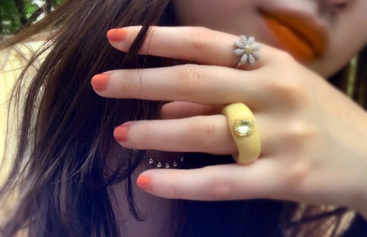 大人オレンジで夏色ネイル!_4