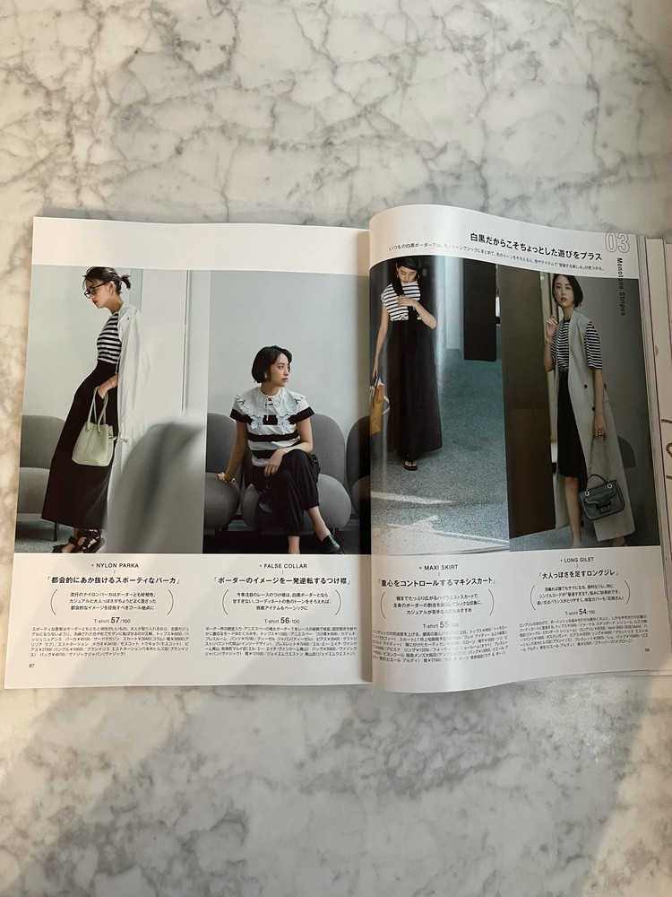 ボーダーTを女っぽく着るアイディア♡_2