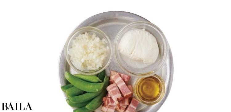 【温野菜レシピ】深い味わいに感動「スナップえんどうとベーコンのオリーブ油蒸し」_2