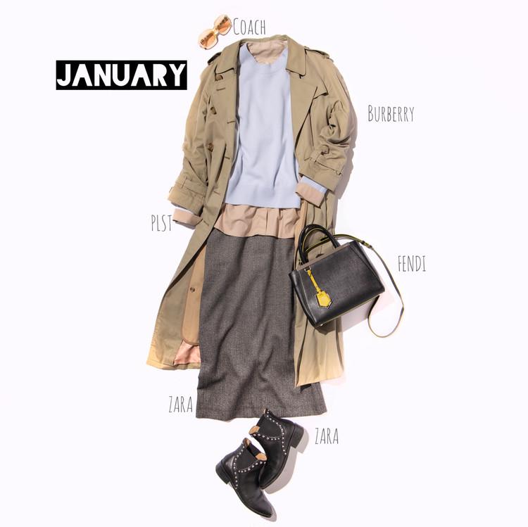 【COS(コス)】のカシミアニットの1月のコーディネイト