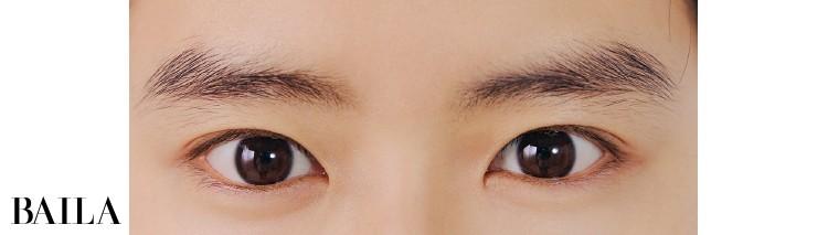 《Before》眉との距離が近く目ヂカラも強め