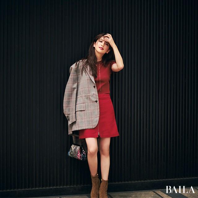 【ユニクロの赤い新作服】が30代のインスタに映える!(#秋のおしゃれToDoリスト)_1_2