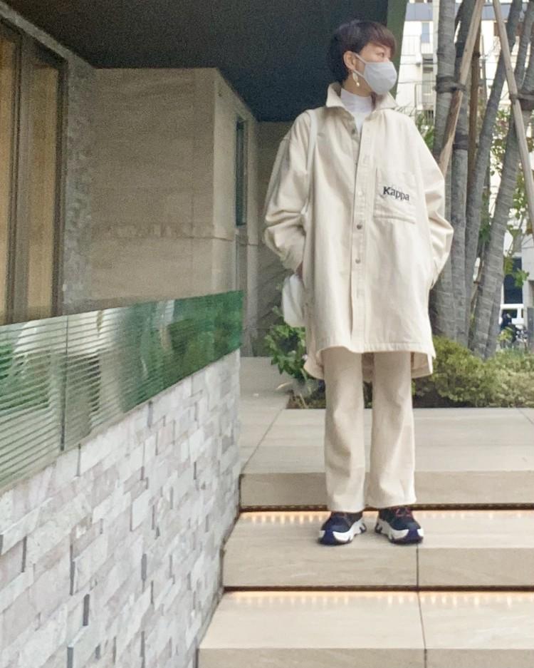 【ジーユー(GU) × カッパ(Kappa)】買ってよかった超人気傑作コラボ メンズ デニムロングシャツ レディース大人コーデ 秋