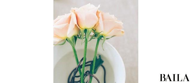 初夏のエネルギーに満ちたバラの生け方いろいろ【カトパンのあえて小さく飾る花レッスン】_4