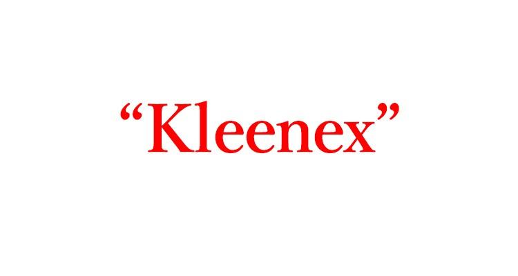 """「ティッシュ」は英語で""""Kleenex"""""""