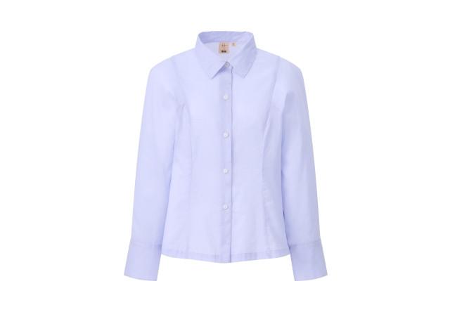 ユニクロ<HANA TAJIMA>2021春夏コレクション コットンシャツ ブルー