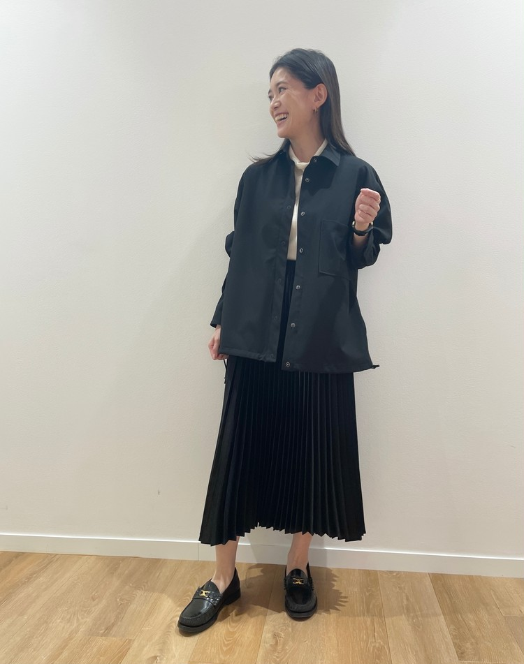 【UNIQLO(ユニクロ)】×【Theory(セオリー)】シャツジャケット着用