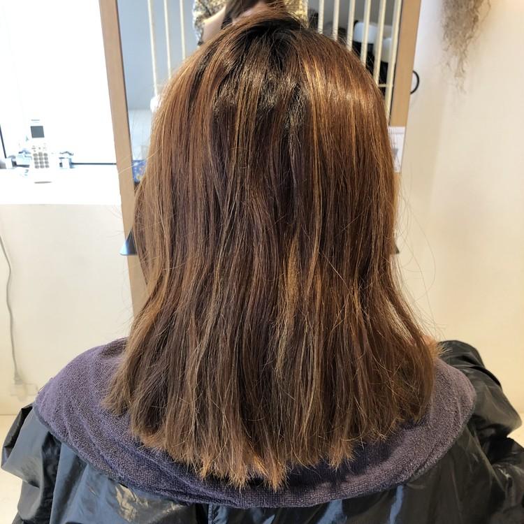夏にオススメ‼︎暗髪なのに透明感ある涼しげヘアカラー_1