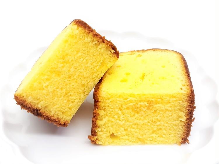 瀬戸内レモンのふんわりケーキの断面