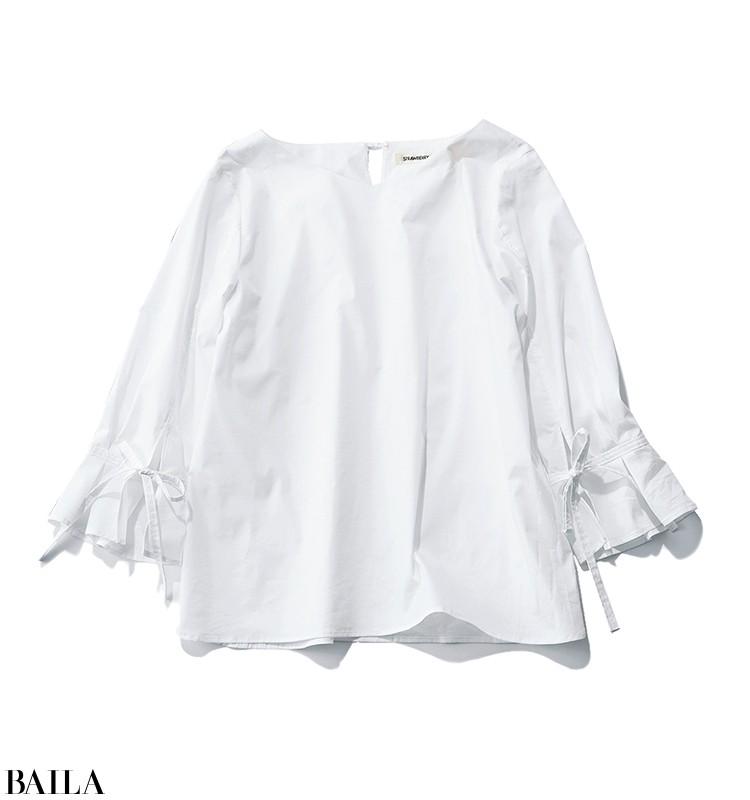 白ブラウス×カラーパンツの簡単華やかスタイル【2020/3/29のコーデ】_2_1