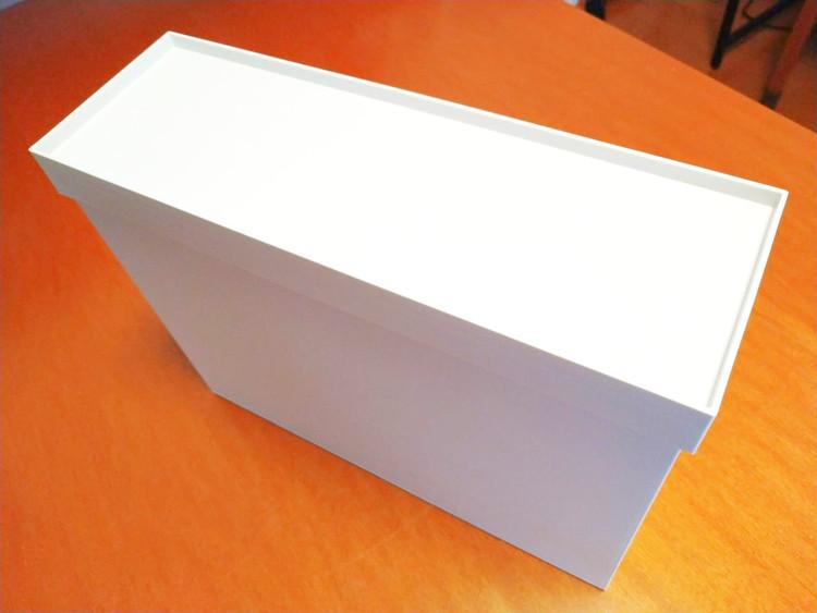蓋をしたファイルボックス