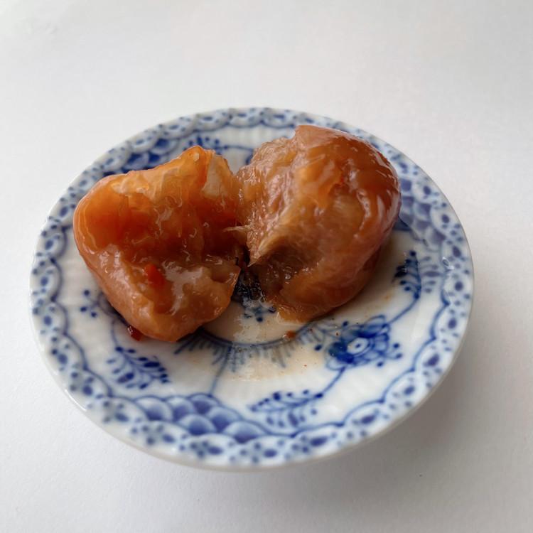 ウメボシカルタ「キムチ梅」断面