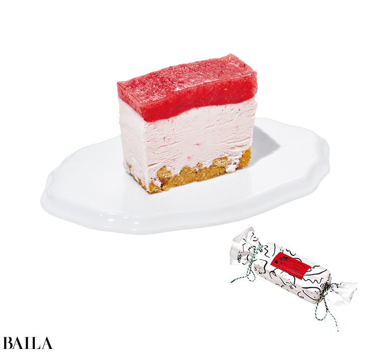 いちびこのすっぴん苺のレアチーズケーキ