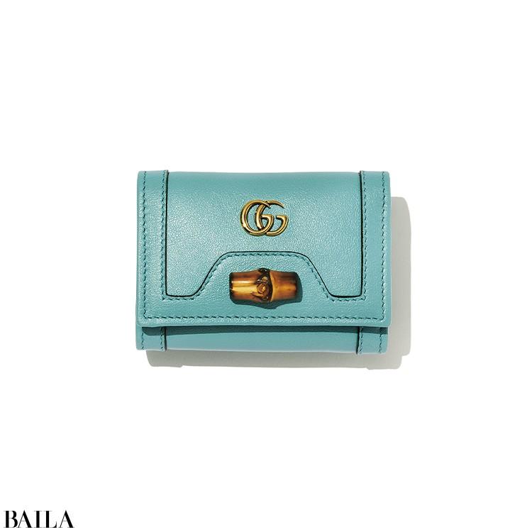 【GUCCI】  「小さなバンブーモチーフにキュン♡ アイコニックなミニ財布見つけた」(ライターE)
