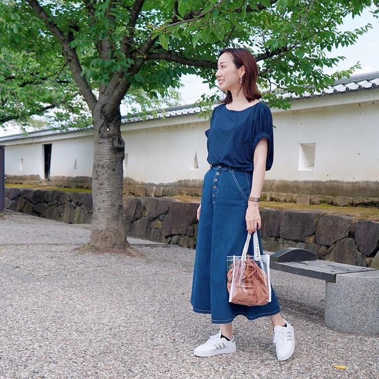 【プチプラ】8月号付録バッグとGU優秀アイテムで夏コーデ_5