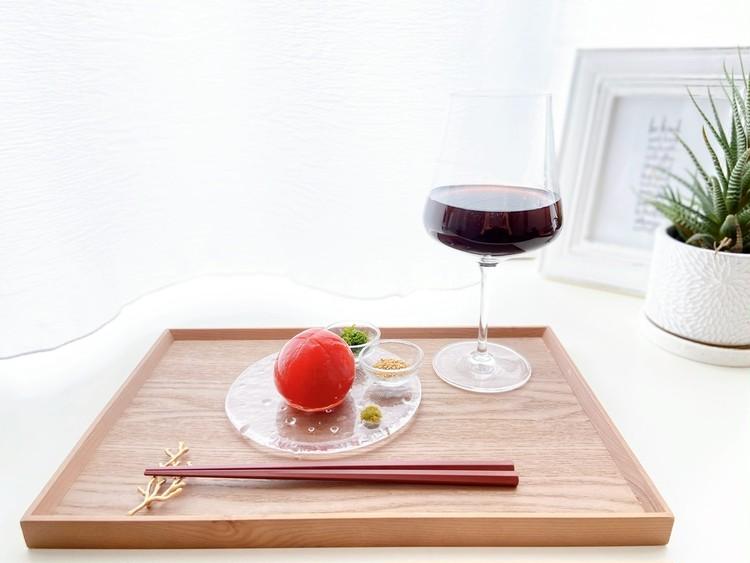 おうち時間におつまみレシピ!まるごとトマトの浅漬けでおうち居酒屋_1