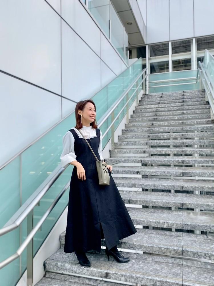 春トレンド♪大人カジュアルなジャンパースカート_BAILA