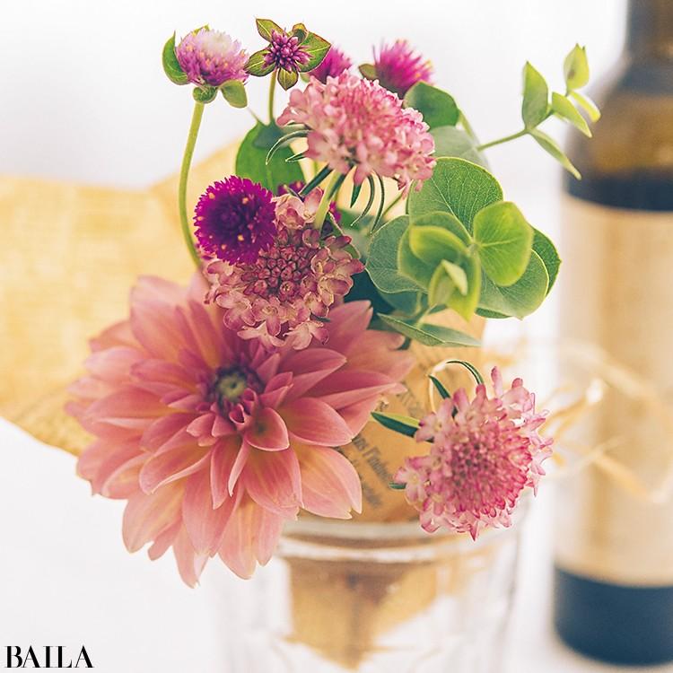 秋色の花々を箱詰めにして小さな贈り物【カトパンのあえて小さく飾る花レッスン】_9