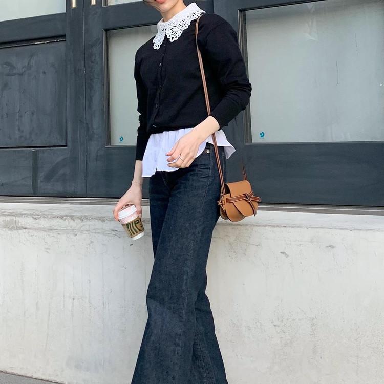 【春服】UNIQLOカーデで襟ブラウスコーデ♡_2