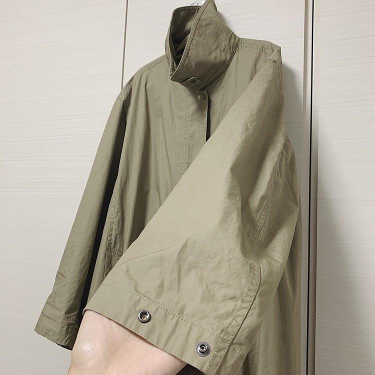 再販で入手!【UNIQLO U】春に即完売した薄軽コート(¥7990)_5