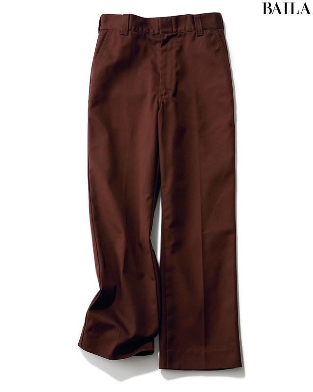 黒パンツをブラウンに変えるだけでこんなに素敵!な3本&3コーデ_1_2