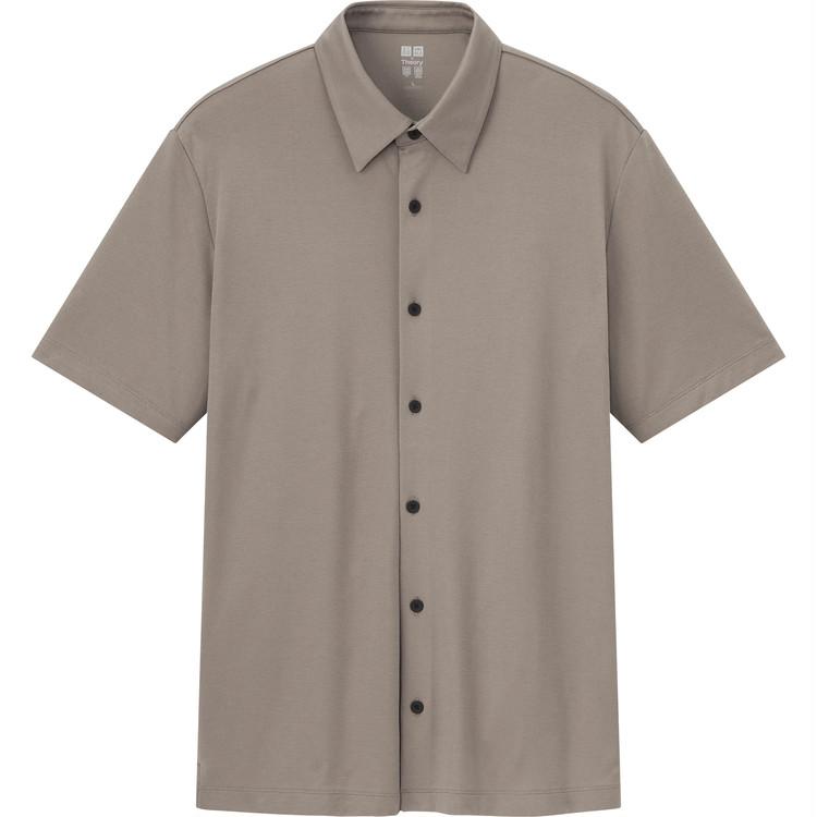 エアリズムスリムフィットフルオープンポロシャツ(半袖) ¥2990