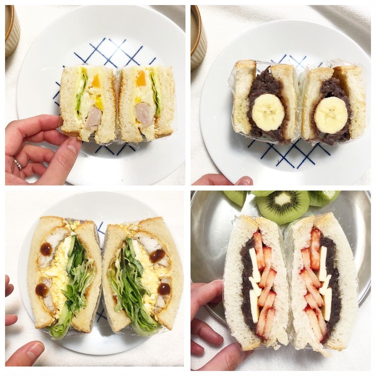#おうち時間  実は簡単‼︎萌え断サンドで朝ごパン_1