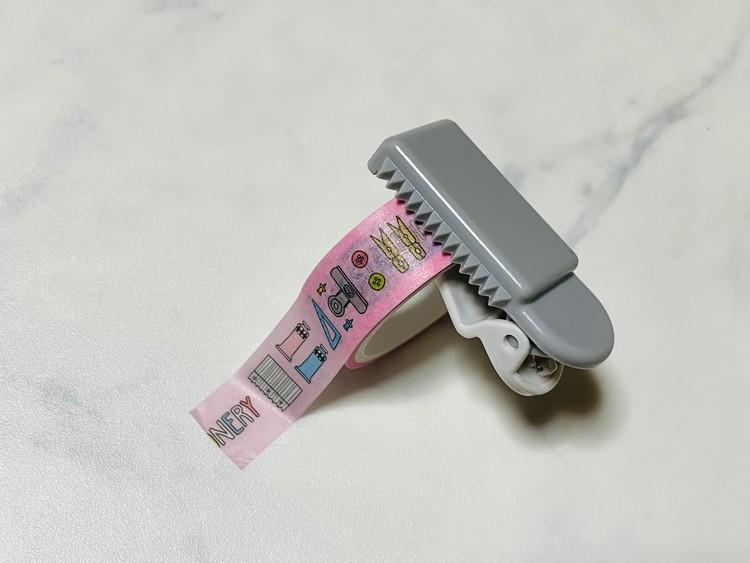 【ダイソー】マスキングテープカッターの使用例(ギザギザ)