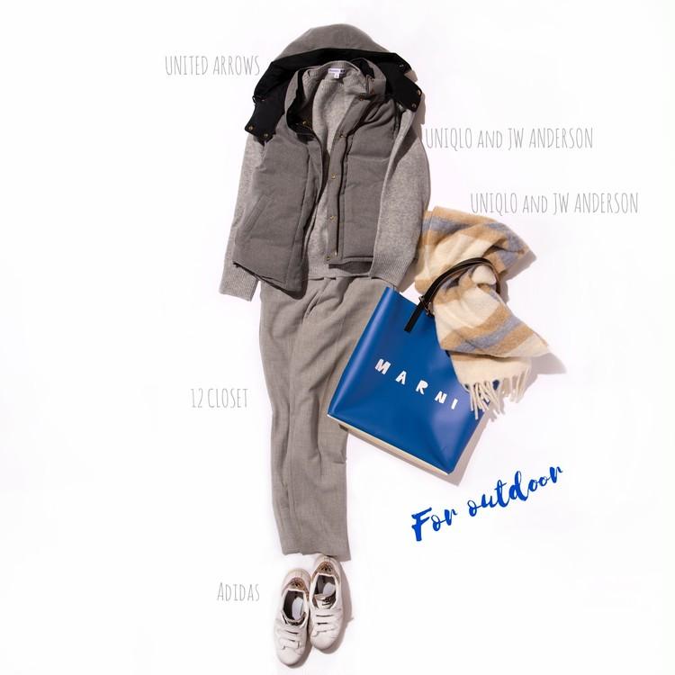 MARNI(マルニ)のPVCショッピングバッグのカジュアルコーデ