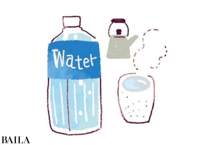 水は一日2ℓ