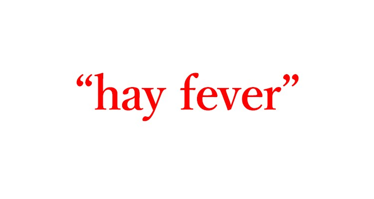 「花粉症」は英語でhay fever