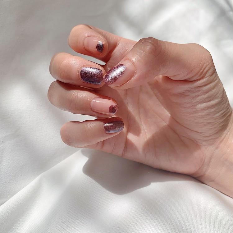 【セルフネイル】綺麗に塗らなくてもOK!塗りかけ、ちぐはぐネイルが良い感じ。_3