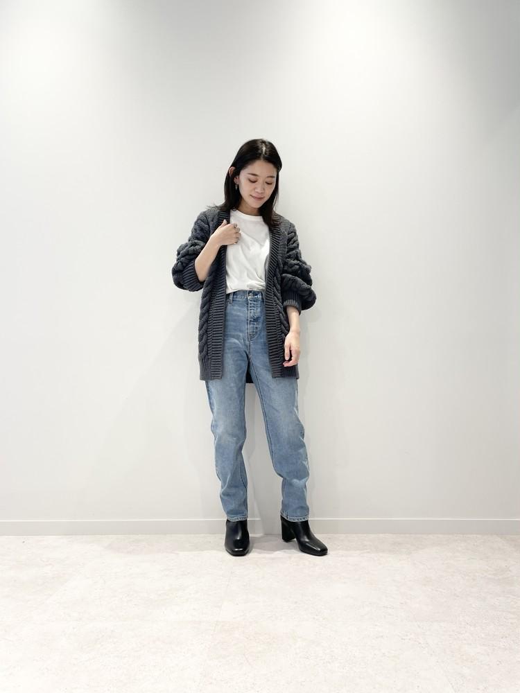 【GU(ジーユー)】チャンキーニットボーイフレンドカーディガン ¥2990