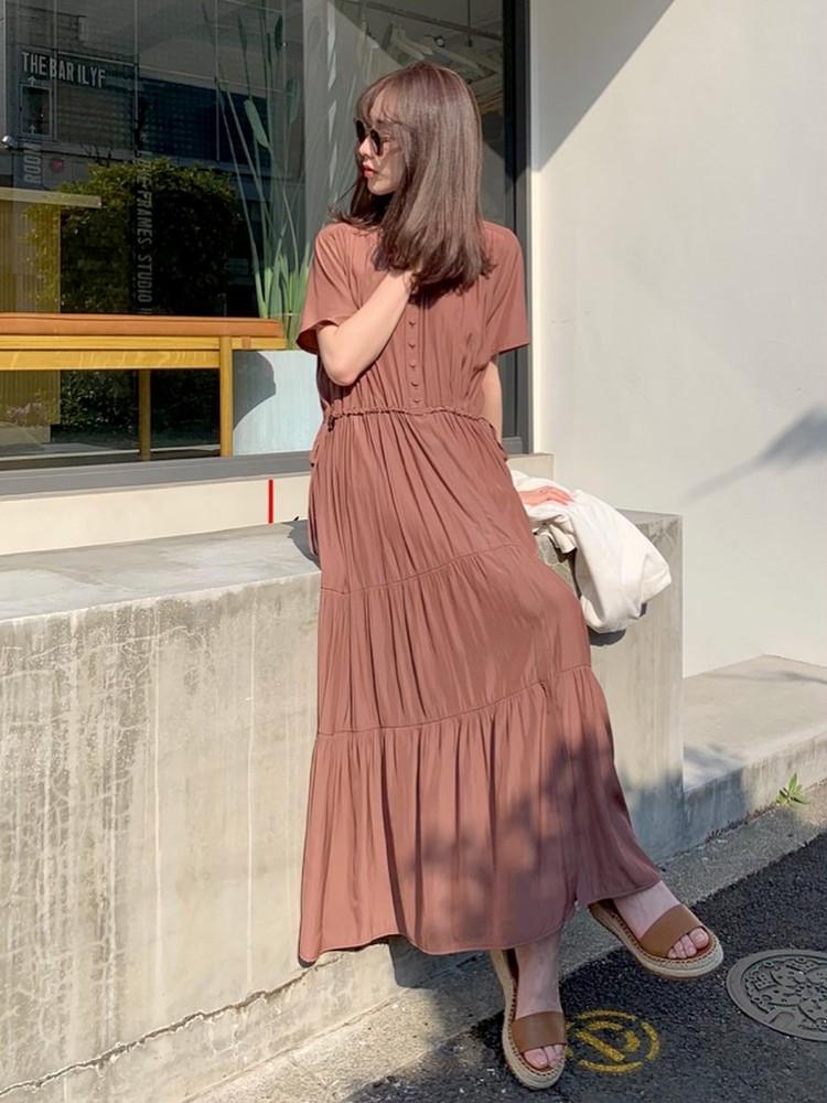 ALLプチプラ♡服&サンダルは「ブラウン」投入で高見え狙い!_14