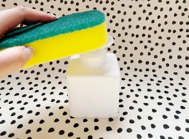 ワンプッシュお掃除ボトルの使用例