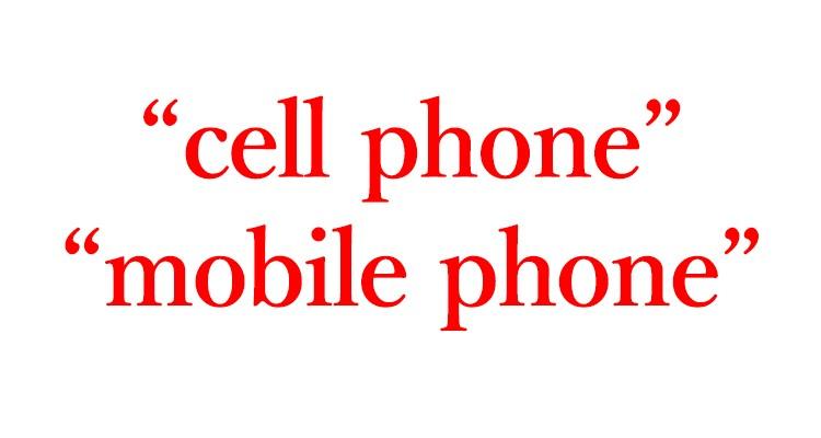"""「スマホ」は英語で""""cell phone"""" """"mobile phone"""""""