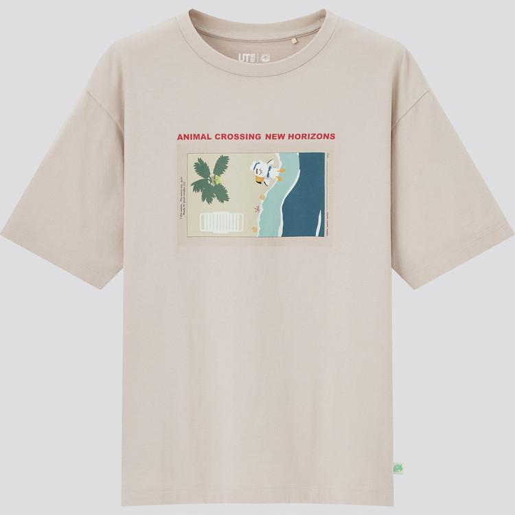 あつまれ どうぶつの森 UT グラフィックTシャツ(半袖・リラックスフィット) ベージュ