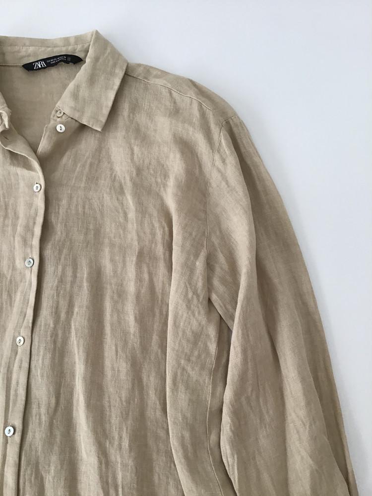 ZARAリネンシャツ袖まわり