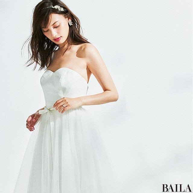 可愛げのあるブリリアントリング【好みのドレスから考えるウエディングリング 2】_1