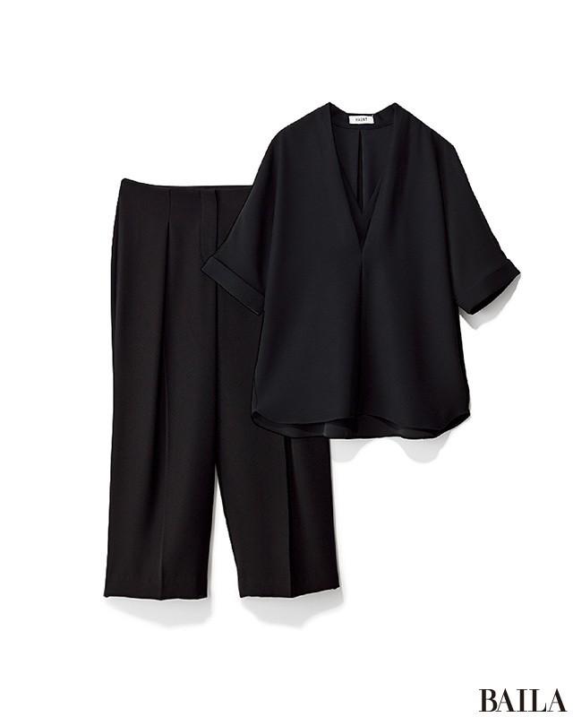 頼るのはやっぱり洗えるシャツ! こっくり色でも涼しげなパンツスタイルで通勤!_2_2