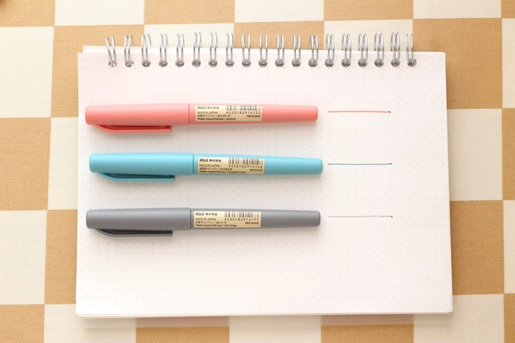 無印良品の水性サインペンを試し書き