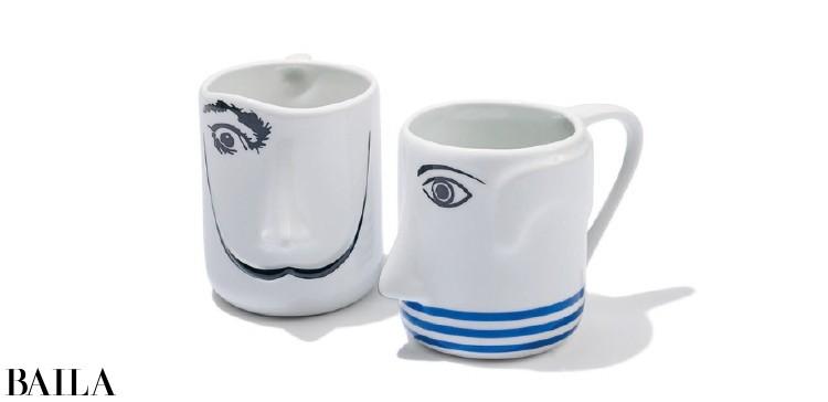 右)マグカップPabloPicasso¥3000・(左)SalvadorDali¥3000/MoMAデザインストア