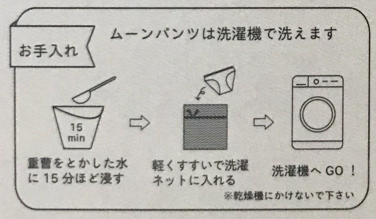 ナプキン不要のサニタリー(生理)ショーツ【ムーンパンツ(MOON PANTS)】は洗濯機で洗える