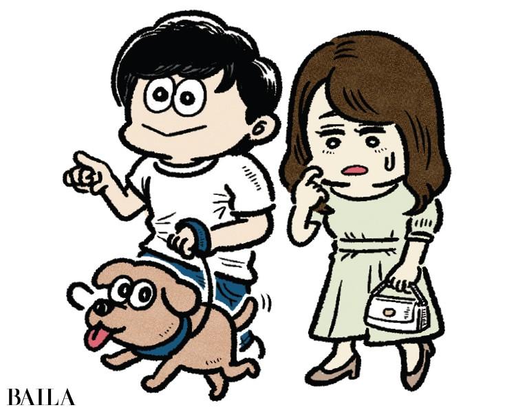 """初デートがまさかの""""近所で犬の散歩"""""""
