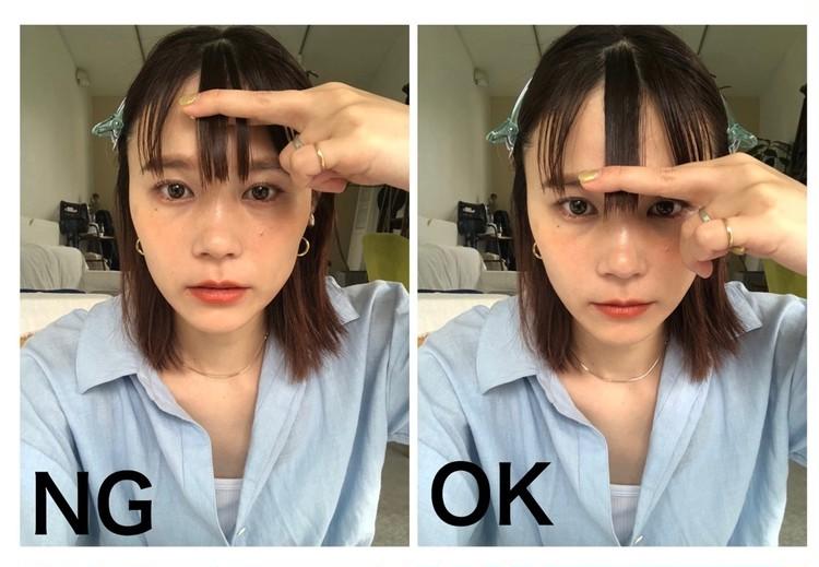 【失敗しない前髪の挟み方】