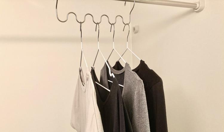 整列された洗濯物