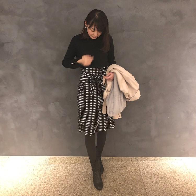 【GU×女っぽスカート】冬のプチプラ2コーデ_1