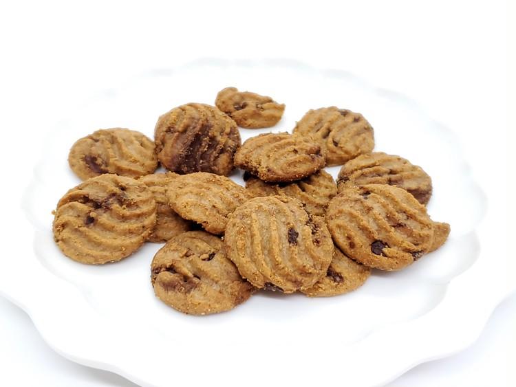 小麦ブランのチョコチップクッキーの中身