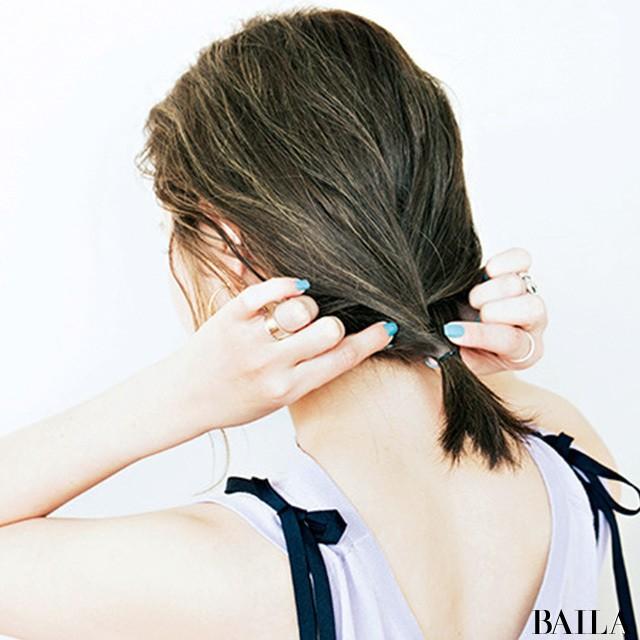 """ハットの日はリラックス感あるまとめ髪に【""""いいね!""""を呼び込むヘアアレンジ④】_2_3"""